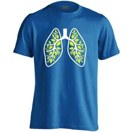 A Légzés Természete pulmonológiai férfi póló (kék)