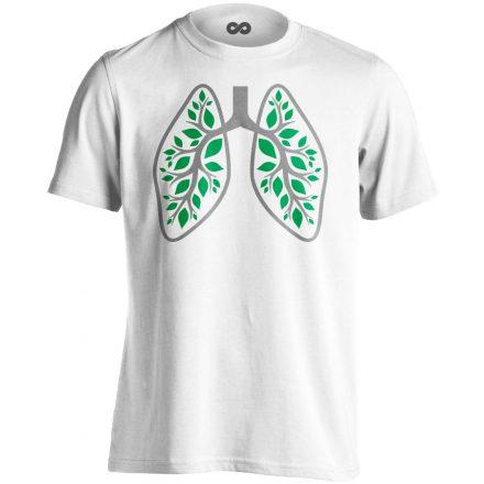A Légzés Természete pulmonológiai férfi póló (fehér)