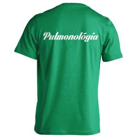 Pulmonológia férfi póló (zöld)