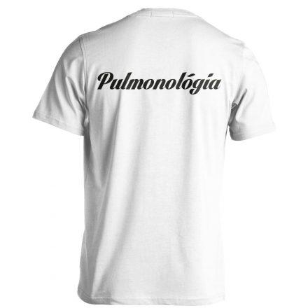 Pulmonológia férfi póló (fehér)