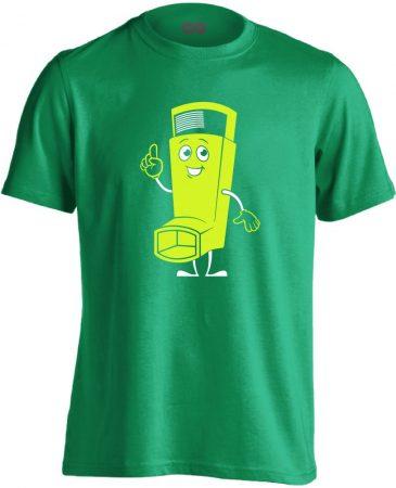 Vidor Inhalátor pulmonológiai férfi póló (zöld)