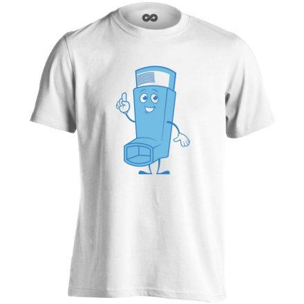 Vidor Inhalátor pulmonológiai férfi póló (fehér)