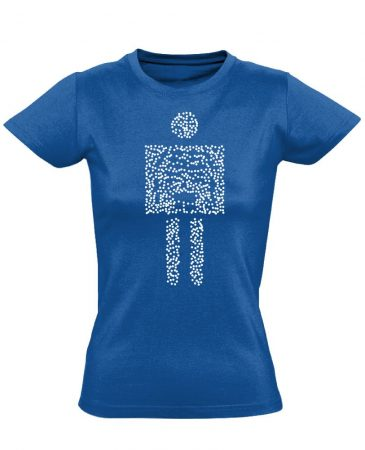Pointilista radiológiai női póló (kék)