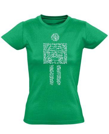 Pointilista radiológiai női póló (zöld)