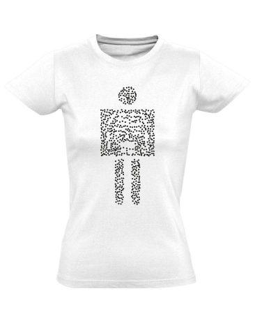 Pointilista radiológiai női póló (fehér)