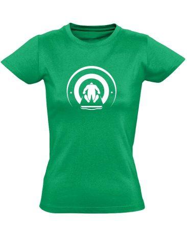 Mágnesfánk radiológiai női póló (zöld)