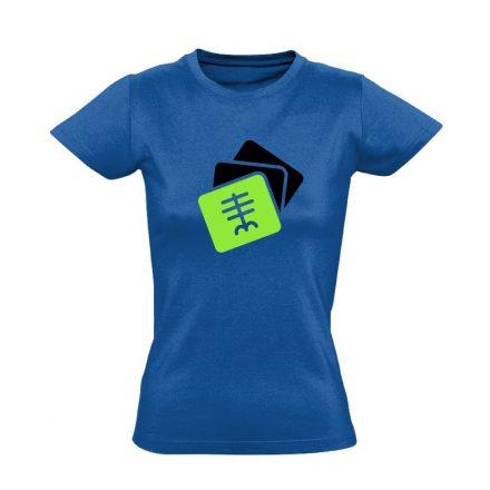 Szekvenciák radiológiai női póló (kék)