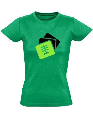 Szekvenciák radiológiai női póló (zöld)