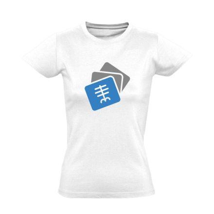Szekvenciák radiológiai női póló (fehér)