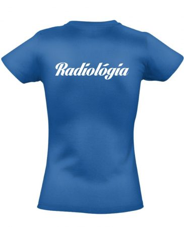 Radiológia női póló (kék)