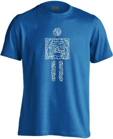 Pointilista radiológiai férfi póló (kék)