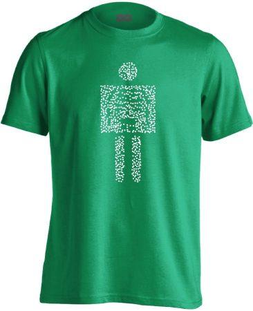Pointilista radiológiai férfi póló (zöld)
