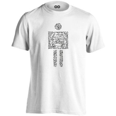 Pointilista radiológiai férfi póló (fehér)