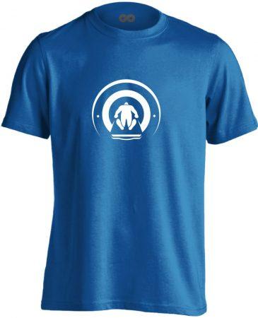 Mágnesfánk radiológiai férfi póló (kék)