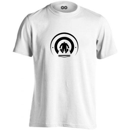Mágnesfánk radiológiai férfi póló (fehér)