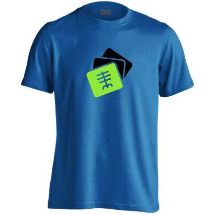Szekvenciák radiológiai férfi póló (kék)