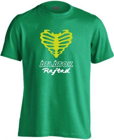 Átlátok rajtad radiológiai férfi póló (zöld)