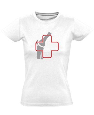 Ízület-Ügyelet reumatológiai női póló (fehér)