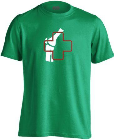 Ízület-Ügyelet reumatológiai férfi póló (zöld)