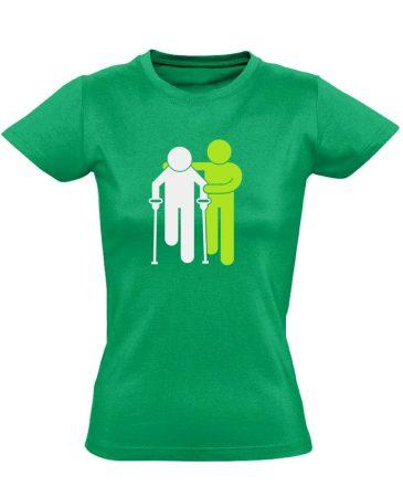 Lépésről Lépésre rehabilitációs női póló (zöld)