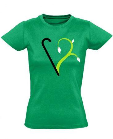 Megújulás rehabilitációs női póló (zöld)