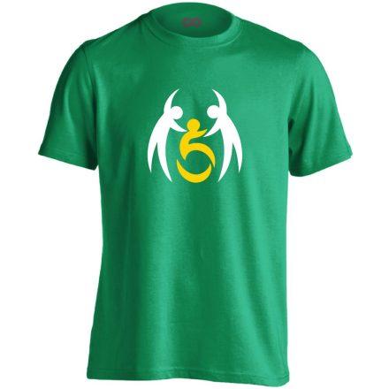 SegítŐk rehabilitációs férfi póló (zöld)