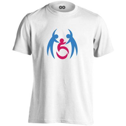 SegítŐk rehabilitációs férfi póló (fehér)