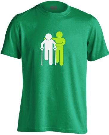 Lépésről Lépésre rehabilitációs férfi póló (zöld)