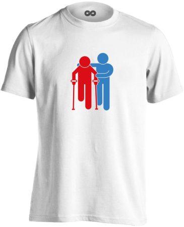 Lépésről Lépésre rehabilitációs férfi póló (fehér)
