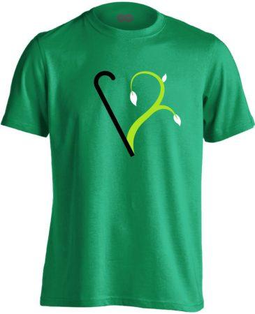 Megújulás rehabilitációs férfi póló (zöld)