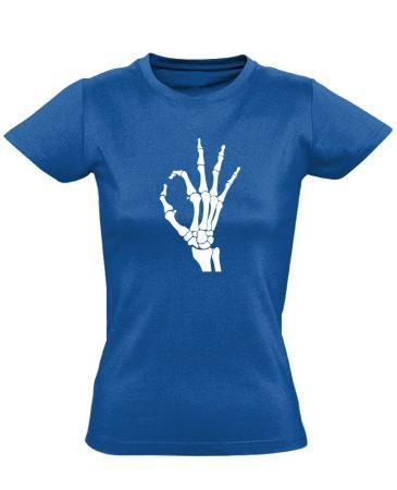 OKÉz röntgenes női póló (kék)