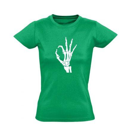 OKÉz röntgenes női póló (zöld)