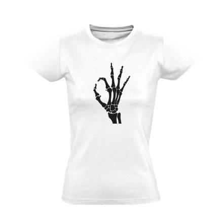 OKÉz röntgenes női póló (fehér)