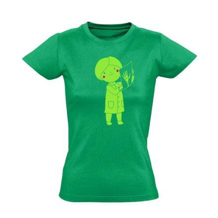 Bertha röntgenes női póló (zöld)
