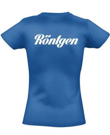 Röntgen női póló (kék)