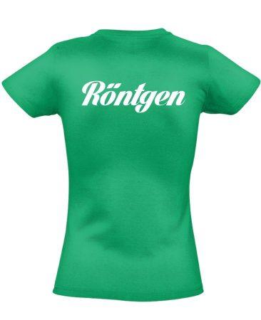 Röntgen női póló (zöld)