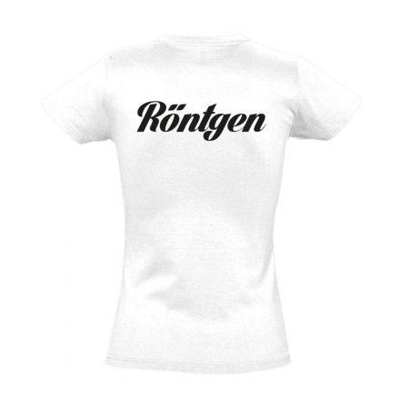 Röntgen női póló (fehér)