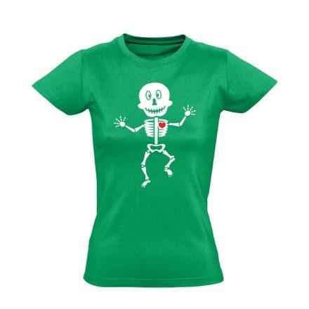 Csonti-boogie röntgenes női póló (zöld)
