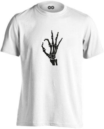 OKÉz röntgenes férfi póló (fehér)