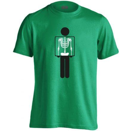 Belém látsz röntgenes férfi póló (zöld)