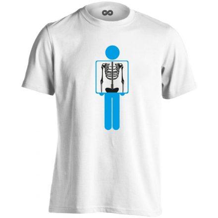 Belém látsz röntgenes férfi póló (fehér)