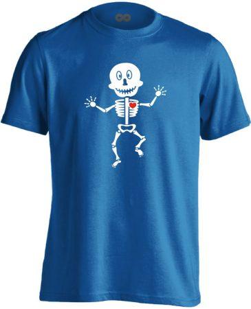 Csonti-boogie röntgenes férfi póló (kék)
