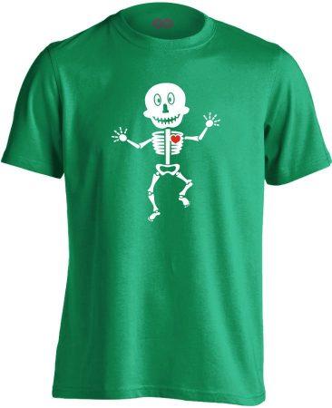 Csonti-boogie röntgenes férfi póló (zöld)