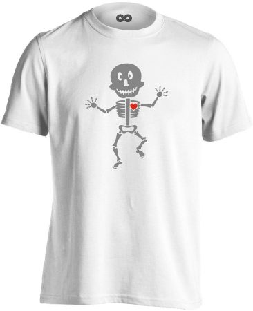 Csonti-boogie röntgenes férfi póló (fehér)
