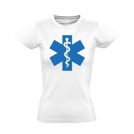 Aszklépiosz sürgősségi női póló (fehér)