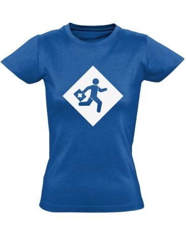 Rohanás sürgősségi női póló (kék)