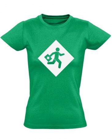 Rohanás sürgősségi női póló (zöld)
