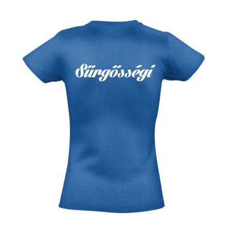 Sürgősségi női póló (kék)