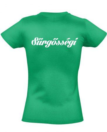 Sürgősségi női póló (zöld)