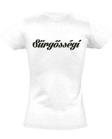 Sürgősségi női póló (fehér)